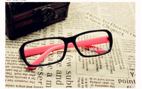 Wholesale Black box leopard grain eyes frame spectacle frame plate myopia flat lens without lens