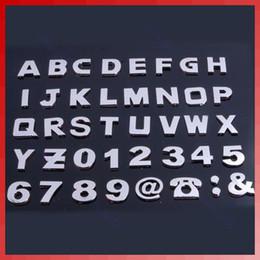 20Set lot 200pcs set 3d Letters & Digital  Number Chrome Car Emblems Badge Decals Stickers For Car