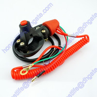 Wholesale ATV Motorcycle Motorbike Normally Opened Break Tether Emergency Kill Stop Engine Switch Push Button