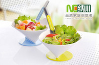 Wholesale Salad Bowl Fork Combination Fruit Ice Cream Children Cake Bowl Kitchen Gadgets