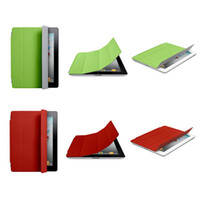 Wholesale iPad Smart Magnetic Cover Case for Apple iPad2 iPad iPad3 new iPad Sleep Wake UP Stander Holder