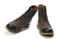 Wholesale Work Shoes Mens Safety Boots Chukka Martin Boots Hight Top Brown Short Classic Boots