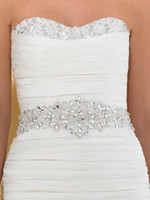 Wholesale Sparkling exquisite Shining beaded sequence beading wedding accessory belts bridal sashes OG
