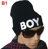 Wholesale BOY Beanie Hats Black Skull Caps Cheap Winter Hats Knit Hats Fashion Cool Hats Mens Hip Hop Headwear