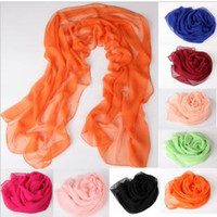 Wholesale square neck warmer ladies silk Scarf Mixed Candy colors X30CM