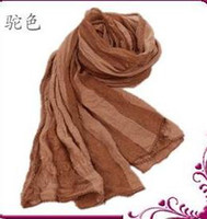 Wholesale cheapest Cute wrinkled square scarf silk scarves colours available