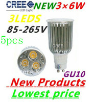 5X High Power GU10 3X6W 18W CREE LEDS Spotlight 85V- 265V Led...
