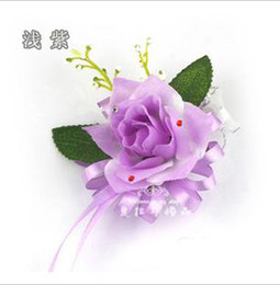 Wholesale A roses wedding simulation Wedding bride wrist flowers