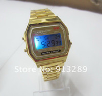 Wholesale 1pcs F W watches f91 fashion thin LED change F w photoelectron watches F W sport watch Hot