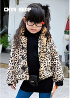 Wholesale X children coat girls long sleeve tops kids outwears fashion leopard clothes winter wear lcazsz q8