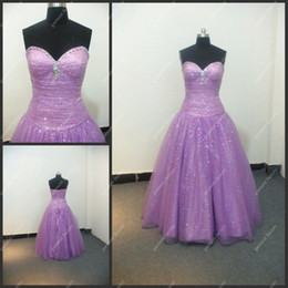 Wholesale A line Sweetheart Backless Hot Sale Shiny Sequins Purple Gown Quinceanera Dress For Women