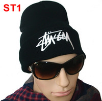 Wholesale Stussy Beanie Black Skull Caps Cool Best Winter Hats Knit Hats Brand New Cheap Mens Hip Hop Headwear