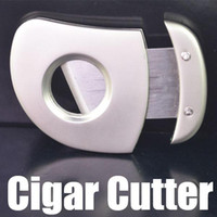 Wholesale Hot SellinG Silver Stainless Steel Pocket Size Cigar Cutter Knife Single Blade
