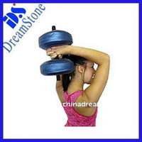 Wholesale 2012 New exercises dumbbell Water Dumbbell have RoHS approved pairs by EMS