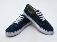 Wholesale New brand vansshoes van casual canvas shoe flat pattern stripes lovers sport training running shoes
