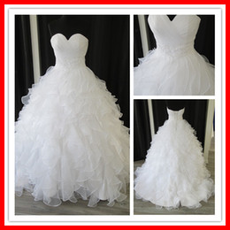 Wholesale 2012 new design glamorous ball gown empire waist puff real image wedding dress bridal gown MLW