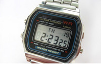 Sport Unisex Gold 10pcs lot F-91W watches f91 fashion -thin LED change F-91w photoelectron watches F 91 W sport watch