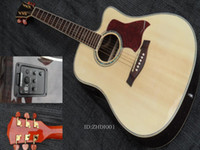 Wholesale Top quality natural wooden acoustic guitar in stock A001