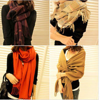 Wholesale 4Colors New Pashmina Scarf Shawl Wrap Cashmere Imitation Silk Wool More Design amp Color