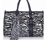 Fashion Handbags Tote Bag Zebra Style PU 2012 Hot Sales 1pcs...