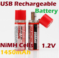 Wholesale Rechargeable AA V USB Batteries NiMH Cells mAh USB Cells Battery