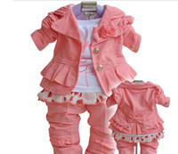 Girl baby western shirts - Baby girl suit kids pc children long sleeve Western style clothes coat t shirt pants
