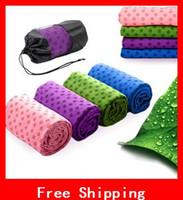 Wholesale Portable Anti skid Microfiber Yoga Towel x65cm Eco friendly Yoga Mat Multi colour