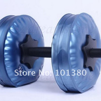 Wholesale blue color dumbbell Water Poured Dumbbell have RoHS approved pairs