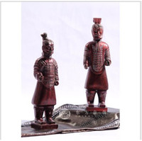 Carved terra cotta - Terra Cotta Warriors Chinese Traditional Resin Crafts Home Decorations FFF