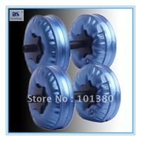 Wholesale Fixed dumbbell Set Water Poured Dumbbell have RoHS approved pairs by EMS