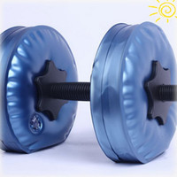 Wholesale DHL women dumbbells Water Poured Dumbbell have RoHS approved pairs