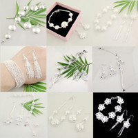 Wholesale ST mix sets women s silver bracelet earring set fashion sterling silver jewelry sets SSS