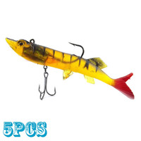 Wholesale 5pcs Soft baits cm length lures with hook new fishing lure tackle tools BQ10