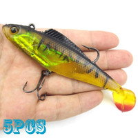 Wholesale 5pcs Soft baits cm length lures with hook new fishing lure tackle tools BQ11