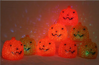 Wholesale new Halloween children s show props electronic jack o lantern pumpkin bucket LED