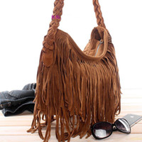 Wholesale Dropship lady bags Suede Shoulder Bag Fringe Tassel women s fashion handbag colors