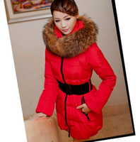 Hooded long down coat - New Women s Clothing Winter Casual Outdoor Warm Super Nagymaros collar Down Jacket Long Sections Plus Thick Slim Down Coat