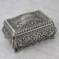 Wholesale Zinc alloy Classical Princess jewelry box Mini Alloy Metal Traditional Exquisite Storage Box
