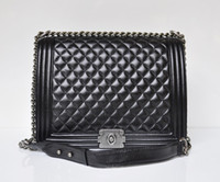 Wholesale Fashion Chal Womens cross body shoulder bag use brand Envelope Sheepskin retro plaid Black