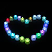 Wholesale LED romantic candles seven colors slow flash