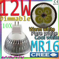 10pcs lot Led Light Dimmable MR16 4X3W 12W Spotlight 12V 4- C...