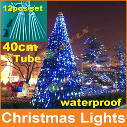 Christmas decoration led meteor Lights 12pcs set 40cm led meteor shower light with driver waterproof