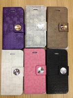 Leather For Apple iPhone Yes Bling diamond Wallet Flip PU Leather Pouch Purse Case Cover with Card Slot for iPhone 5 5G 10pcs lo