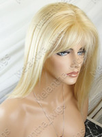 Wholesale 2012 Gorgeous quot Silky Straight blonde full Lace Indian Remy Human Hair Wigs Secure Payments