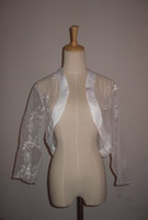 Wholesale Wedding white Mid sleeve Bride bridesmaid lace jacket bolero