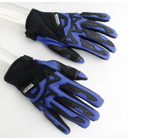 Wholesale motorcycle gloves blue color motorcycle gloves nylon motor gloves size M L XL
