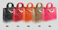 Wholesale 2012 Fashion patent leathe pearl designer handbags Lady bag tote brand name bag handbag tote sholder