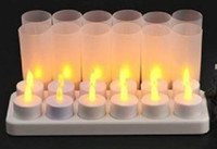 Wholesale Rechargeable Candle Lamp LED Lights Realistic Tea Candles good idea for candle l