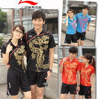 Wholesale 2012 LINING Li Ning badminton men and women couples suite breathable quick drying material on unde
