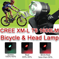 Wholesale LM CREE XML XM L T6 LED Bicycle bike Head Light Lamp x v mAh Battery NEW